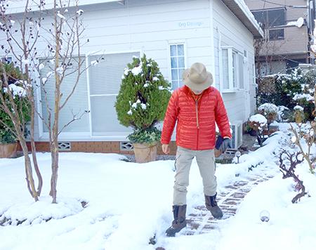 エルグデザイン、雪の庭.JPG