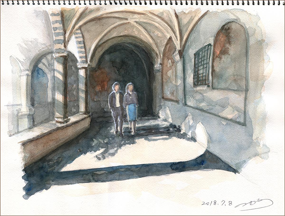 二階堂隆 水彩画
