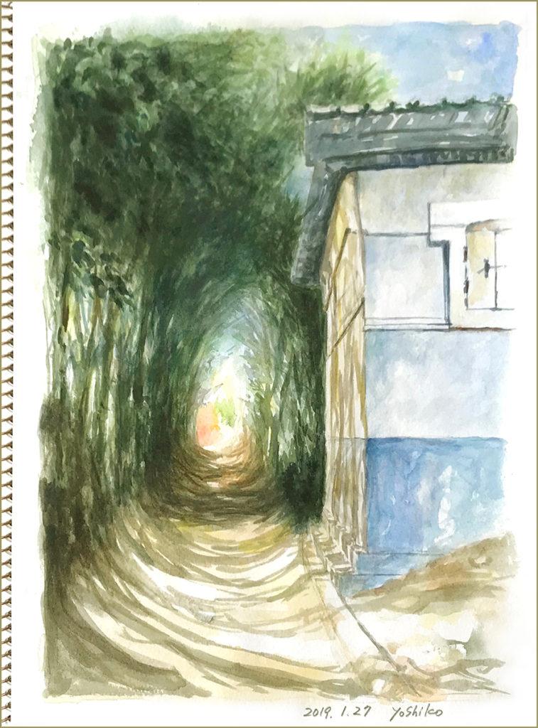 二階堂美子の水彩画