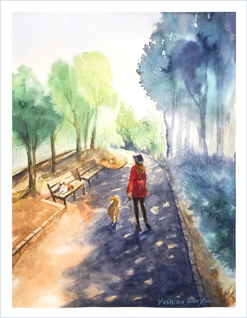 公園の散歩
